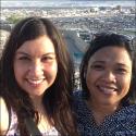 Sister Christa Parra and Sister Romina Sapinoso